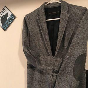 Zara grey blazer work casual